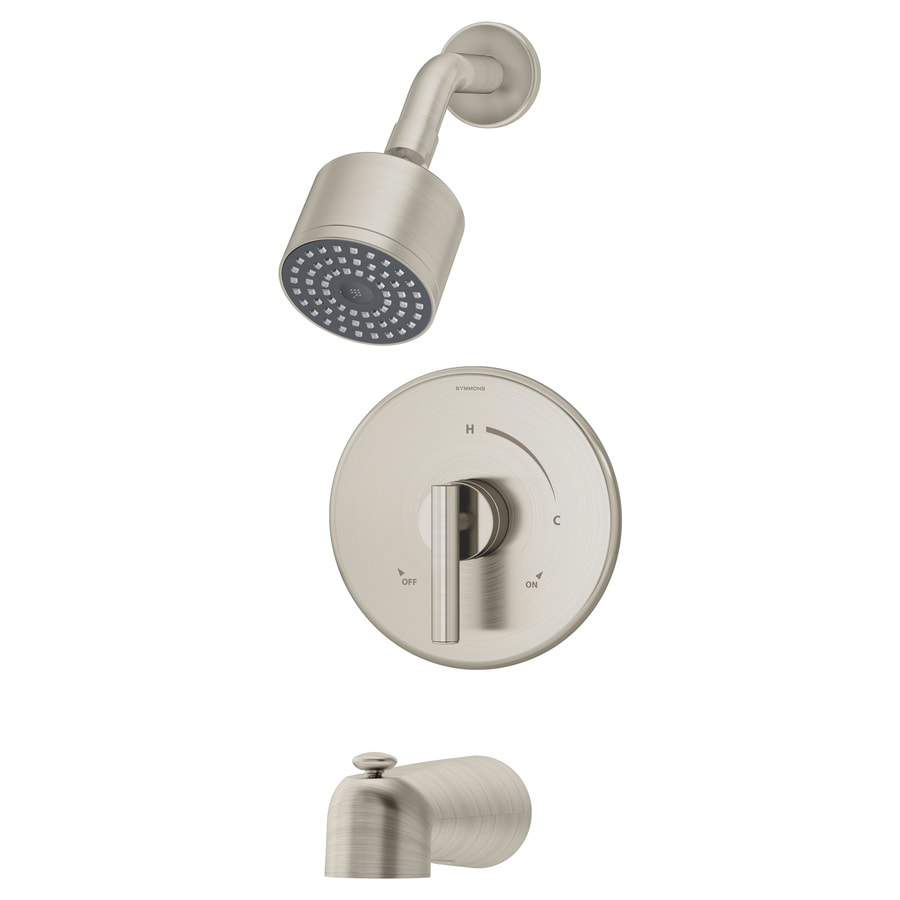 Symmons Dia Satin Nickel 1-handle Commercial Bathtub and Shower Faucet
