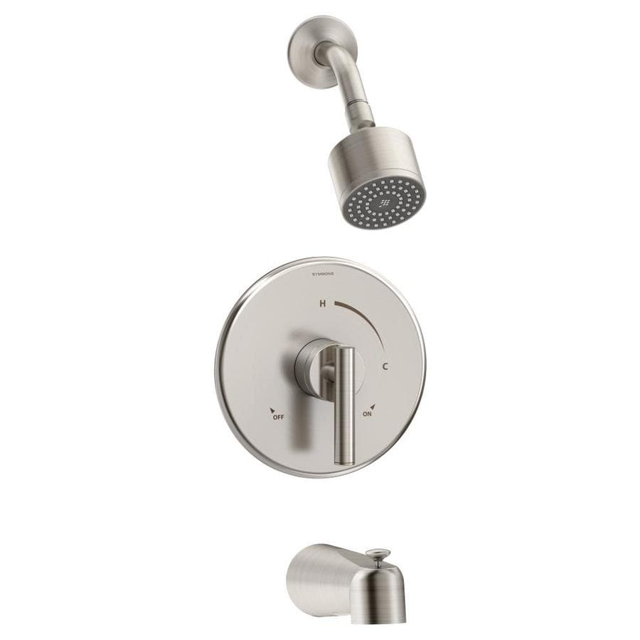 Symmons Dia Satin Nickel 1-handle Commercial Bathtub And Shower Faucet with Valve