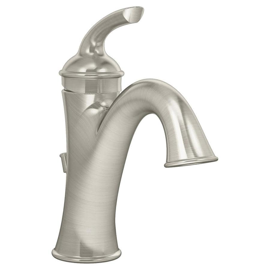 Symmons Elm Satin nickel 1-handle Single Hole Commercial Bathroom Faucet