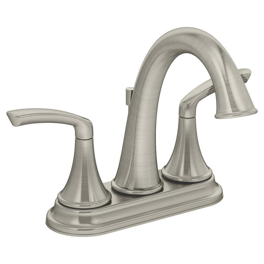 Symmons Elm Satin nickel 2-handle 4-in Centerset Bathroom Faucet