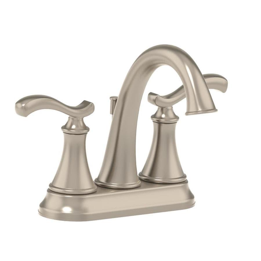 Symmons Sophia Satin Nickel 2-Handle 4-in Centerset WaterSense Bathroom Faucet (Drain Included)