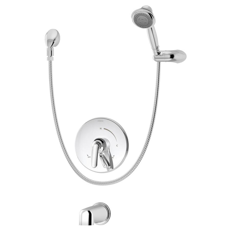 Symmons Elm Chrome 1-Handle Bathtub and Shower Faucet with Multi-Function Showerhead
