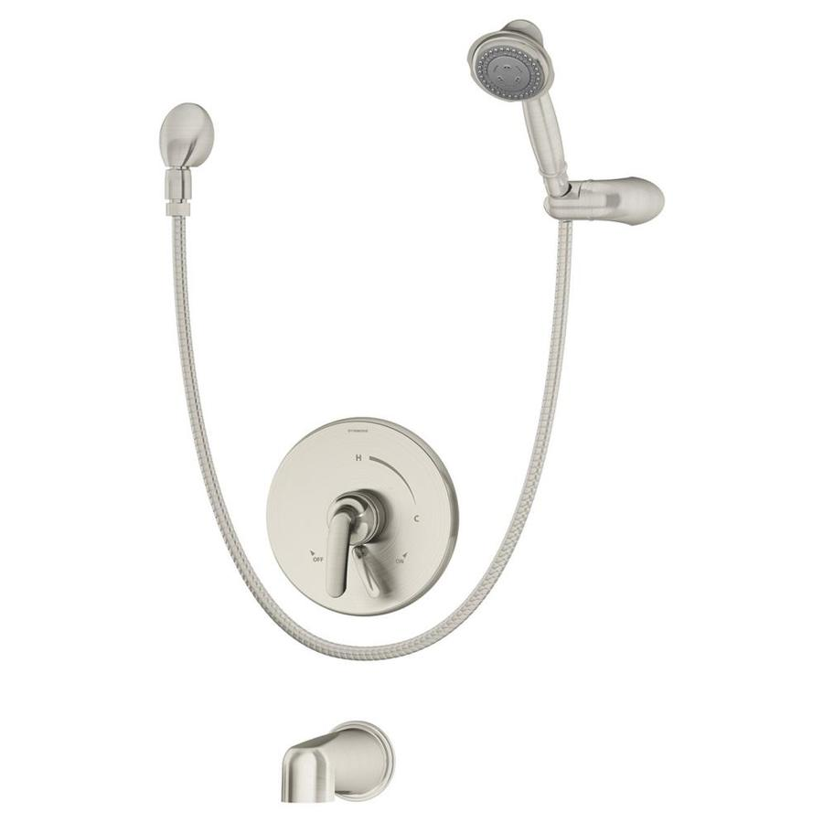 Symmons Elm Satin Nickel 1-handle Commercial Bathtub And Shower Faucet with Valve