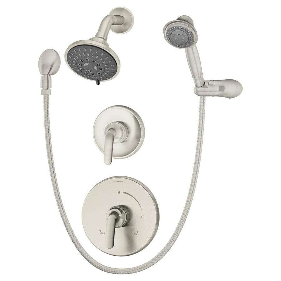 Shop Symmons Elm Satin Nickel 2-Handle Commercial Shower Faucet ...