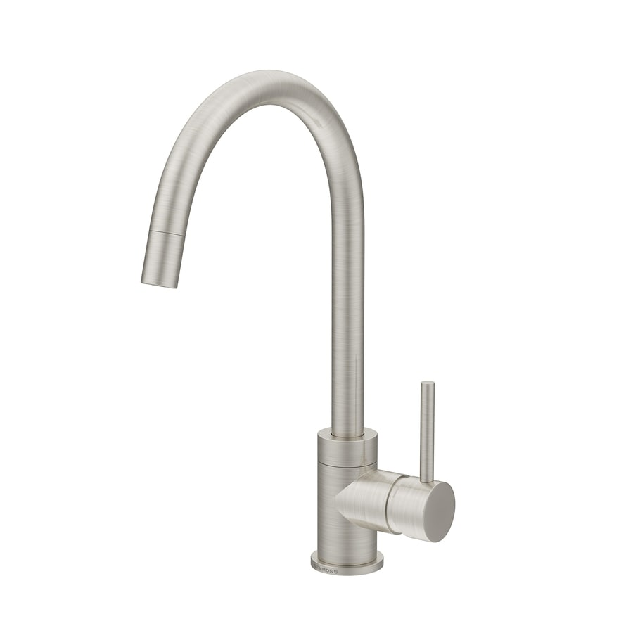 Shop Symmons Dia Satin Nickel 1 Handle Single Hole Commercial Bathroom Faucet At