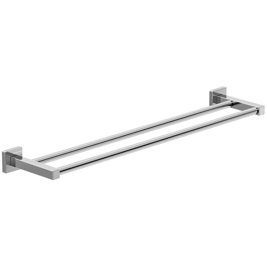 symmons duro chrome double towel bar common 24in actual 26