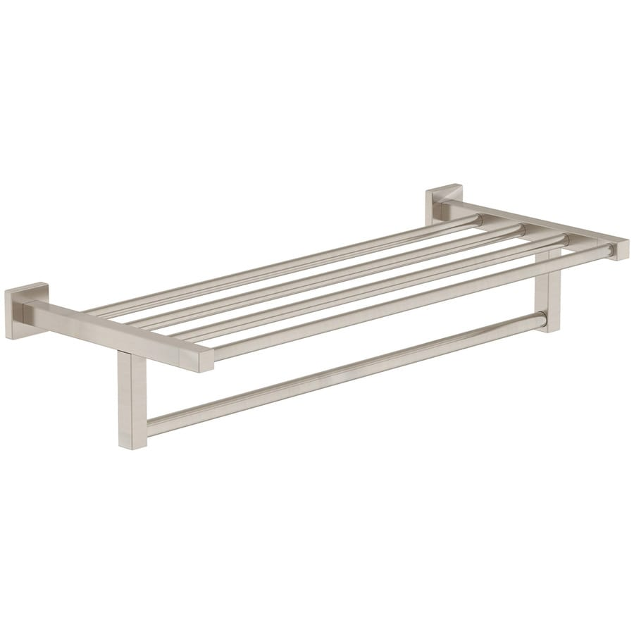Design Towel Racks shop towel racks at lowes com symmons duro satin nickel brass rack