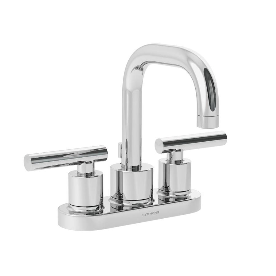 Shop Symmons Dia Chrome 2 Handle 4 In Centerset Commercial Bathroom Faucet At