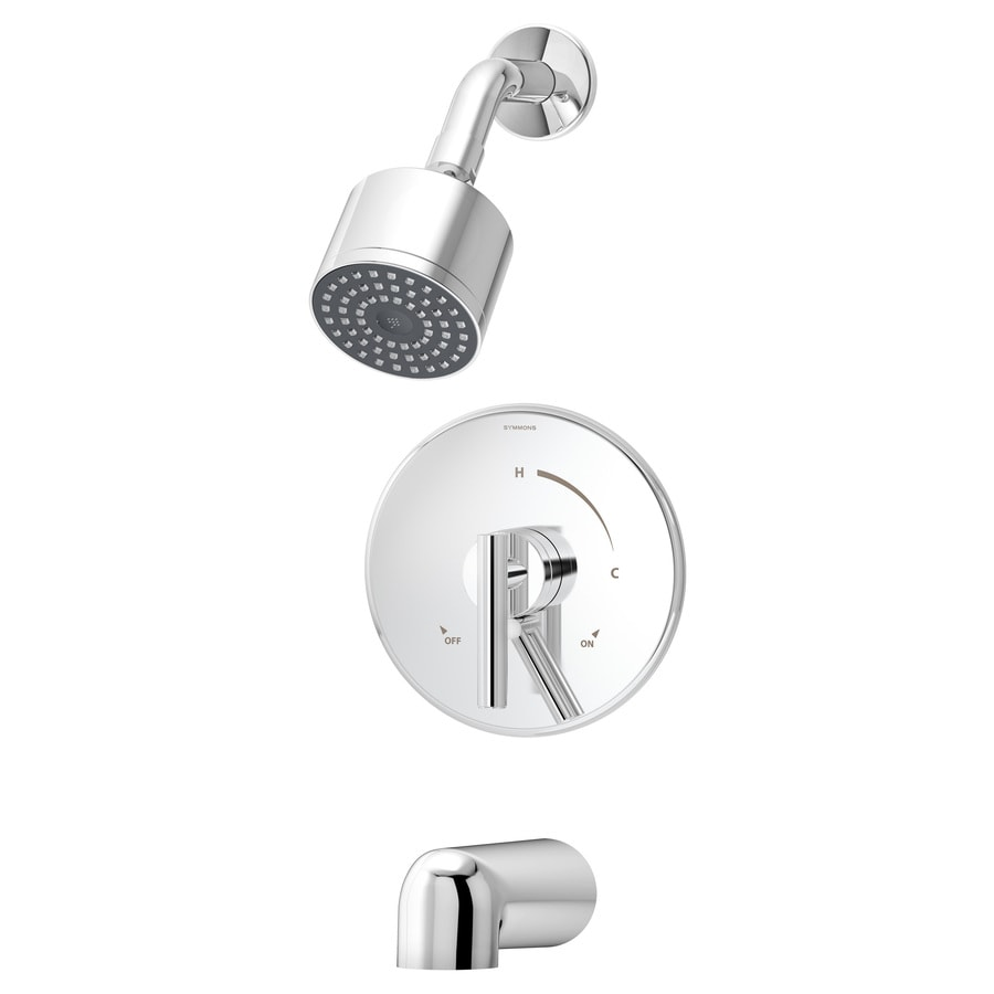 Symmons Dia Chrome 1-handle Commercial Bathtub And Shower Faucet with Valve