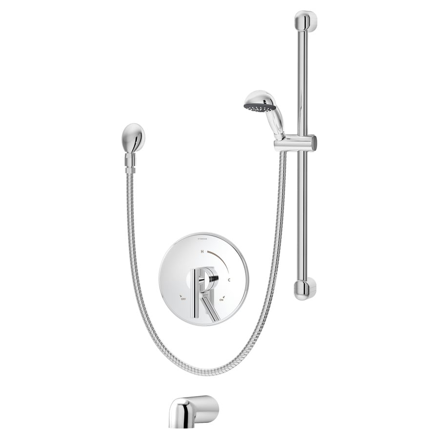 Symmons Dia Chrome 1-Handle Bathtub and Shower Faucet with Single Function Showerhead