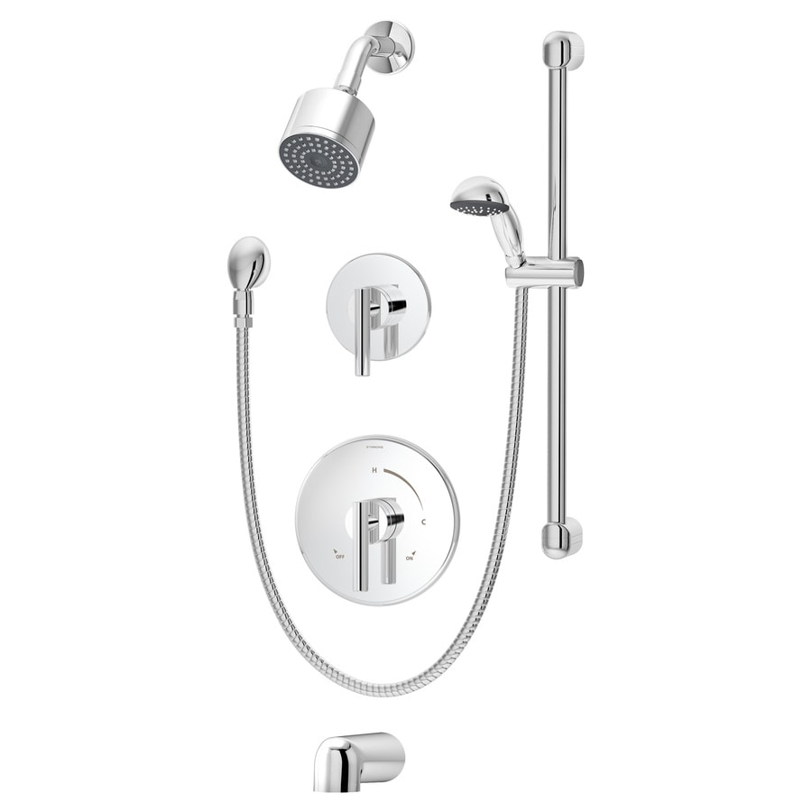 Symmons Dia Chrome 2-handle Commercial Bathtub And Shower Faucet with Valve