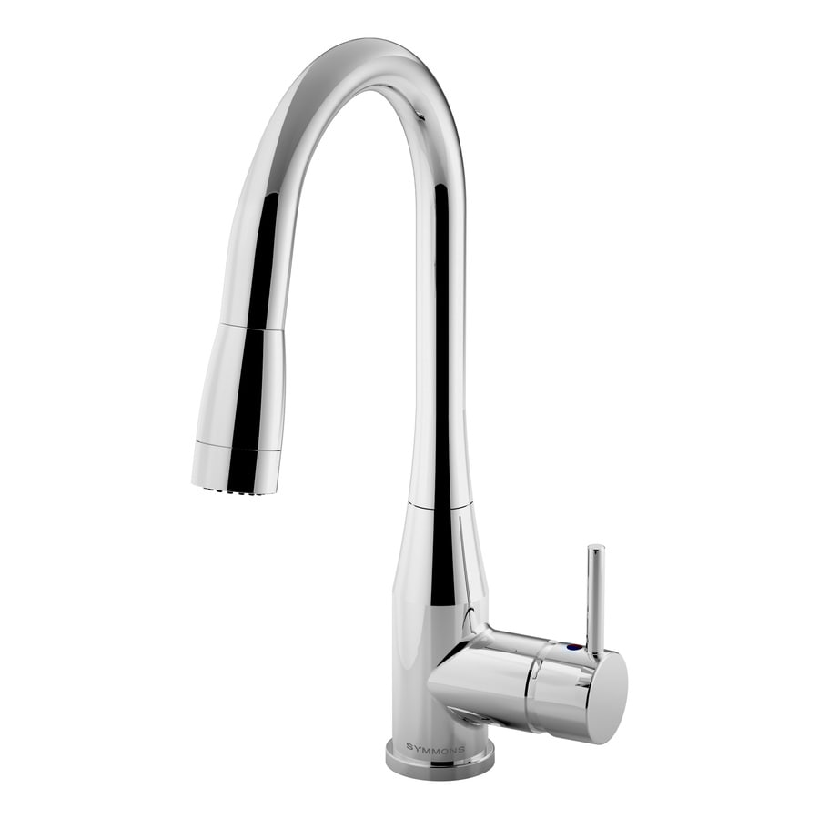 symmons sereno chrome 1handle deck mount pulldown commercial kitchen faucet - Commercial Kitchen Faucets