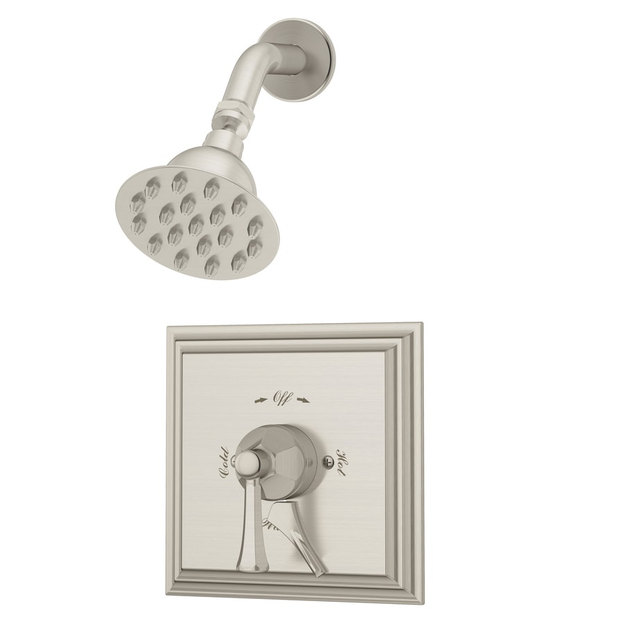 Symmons Canterbury Satin Nickel 1-handle Commercial Shower Faucet with Valve