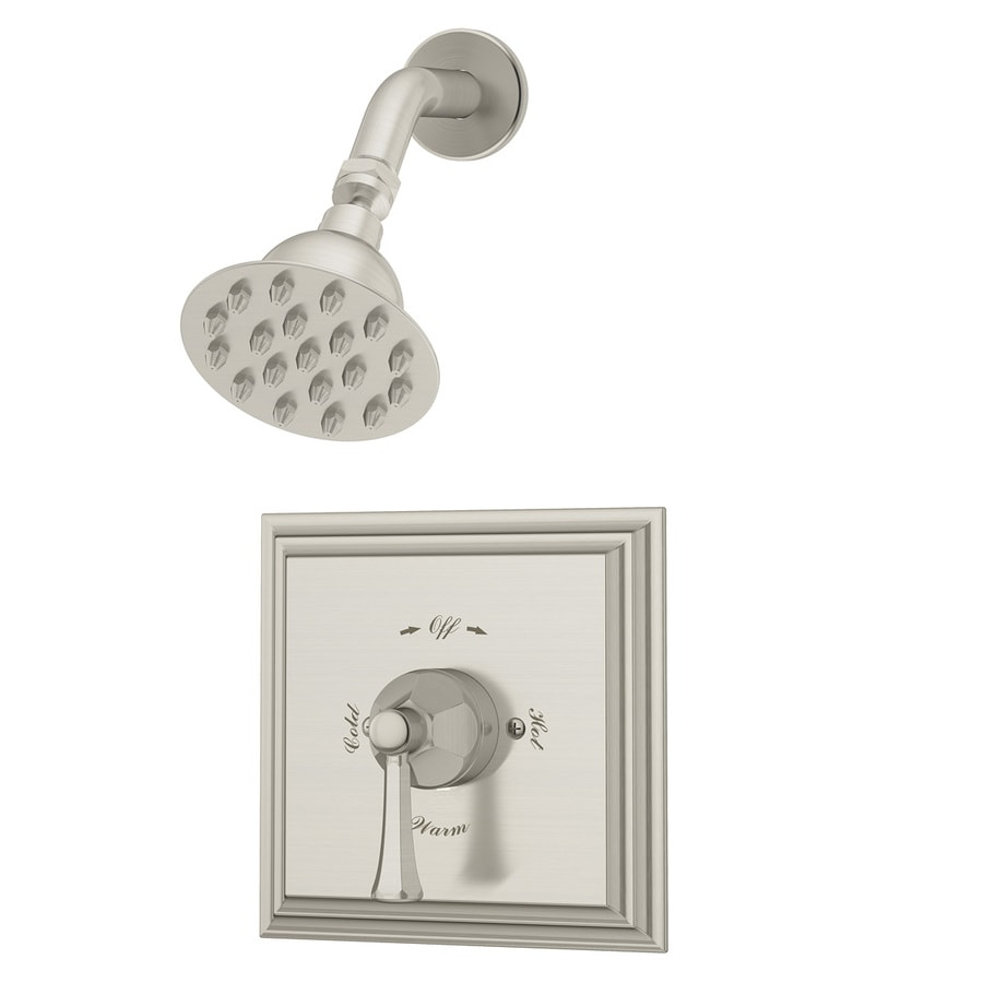 Symmons Canterbury Satin Nickel 1-Handle Shower Faucet with Single Function Showerhead