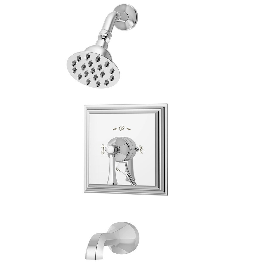 Symmons Canterbury Satin Nickel 1-Handle Bathtub and Shower Faucet with Single Function Showerhead