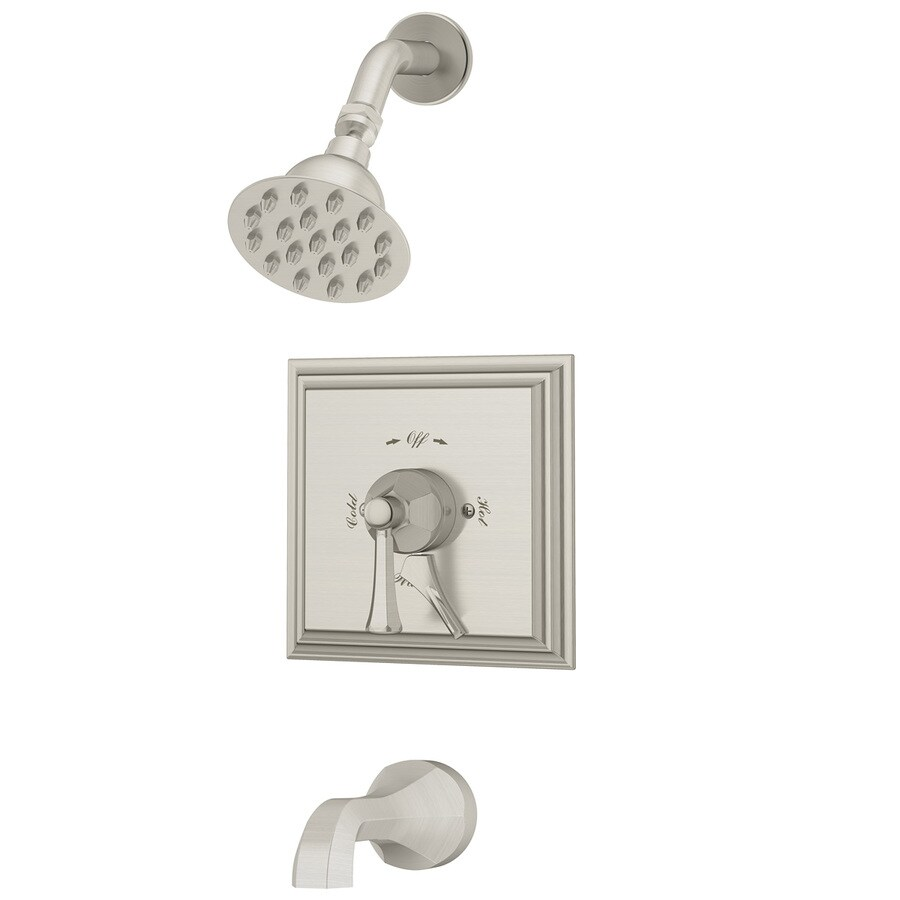 Symmons Canterbury Polished Chrome 1-Handle Bathtub and Shower Faucet with Single Function Showerhead