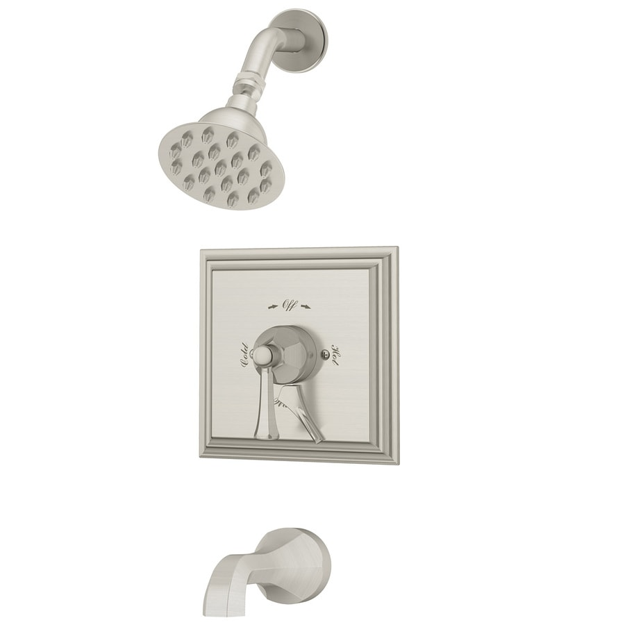 Symmons Canterbury Chrome 1-handle Commercial Bathtub And Shower Faucet with Valve