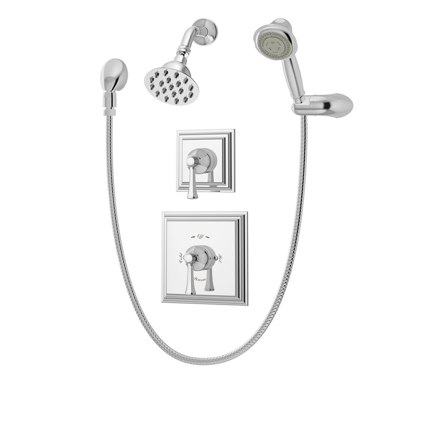 Symmons Canterbury Chrome 2-handle Commercial Shower Faucet with Valve