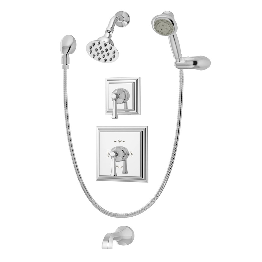 Symmons Canterbury Polished Chrome 2-Handle Bathtub and Shower Faucet with Single Function Showerhead