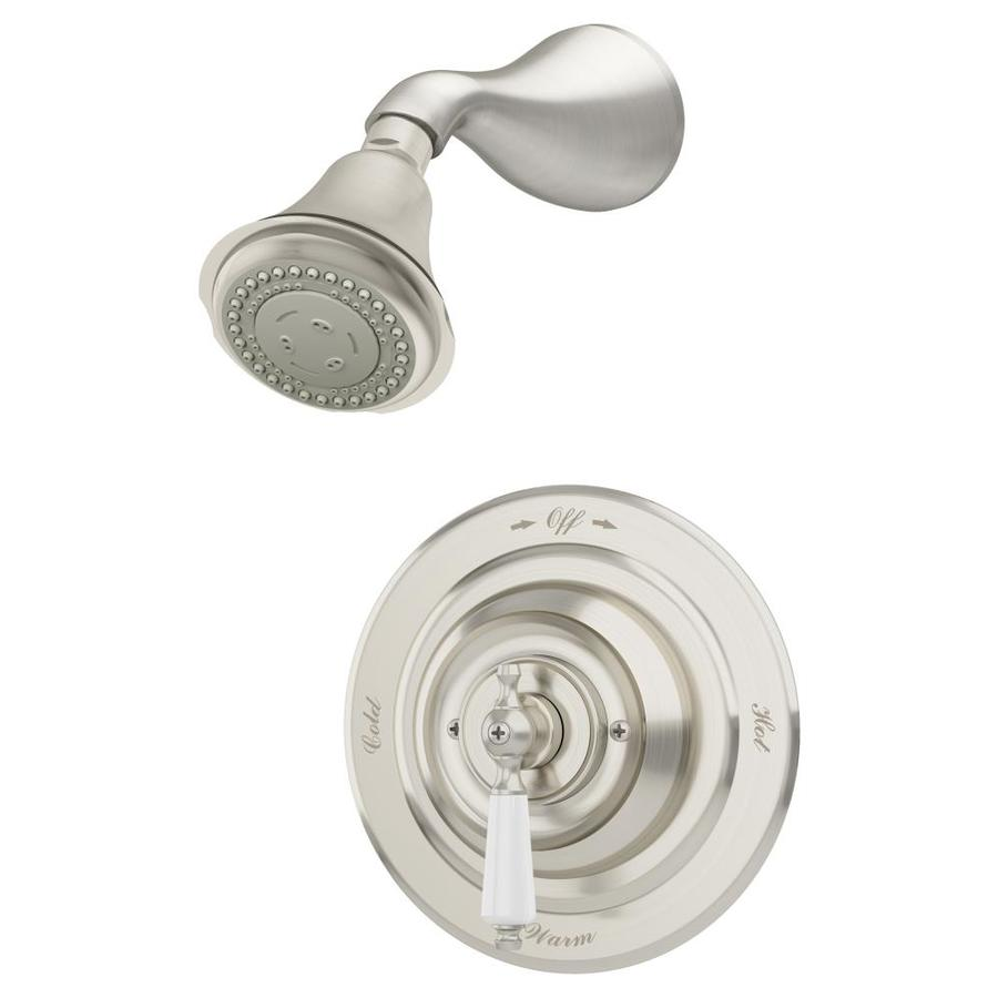 Symmons Carrington Satin Nickel 1 Handle Shower Faucet In The Shower Faucets Department At Lowes Com