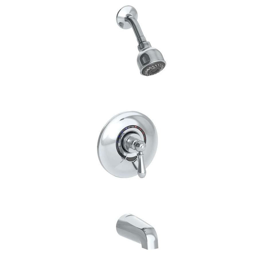 symmons allura chrome 1handle commercial bathtub and shower faucet with valve