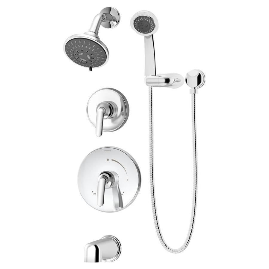 Symmons Elm Chrome 2-handle Commercial Bathtub And Shower Faucet with Valve