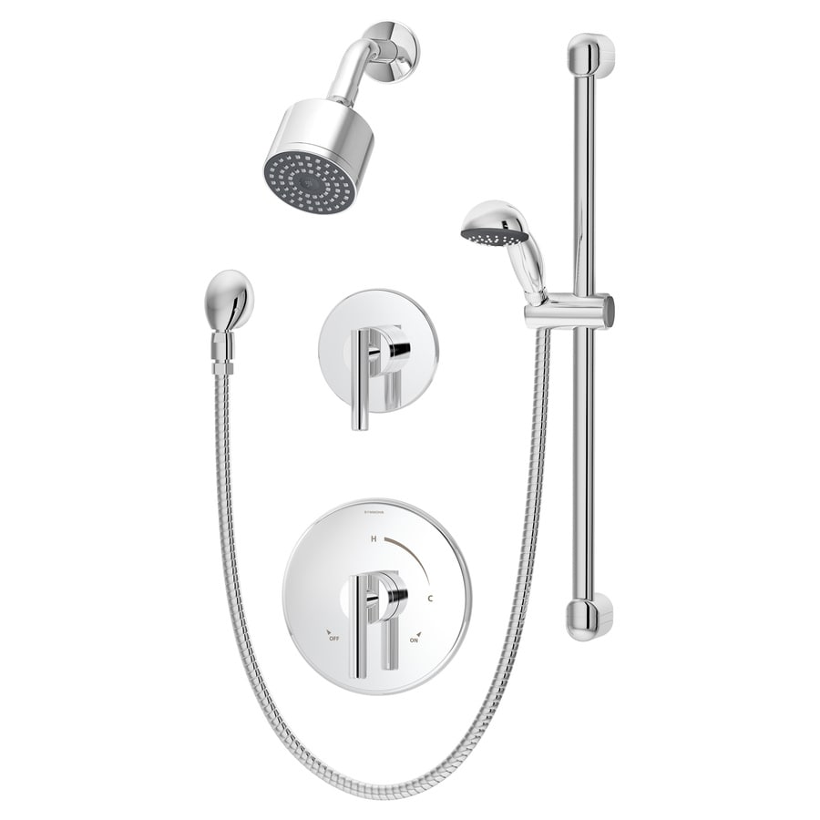 Symmons Dia Chrome 1-Handle Shower Faucet with Single Function Showerhead