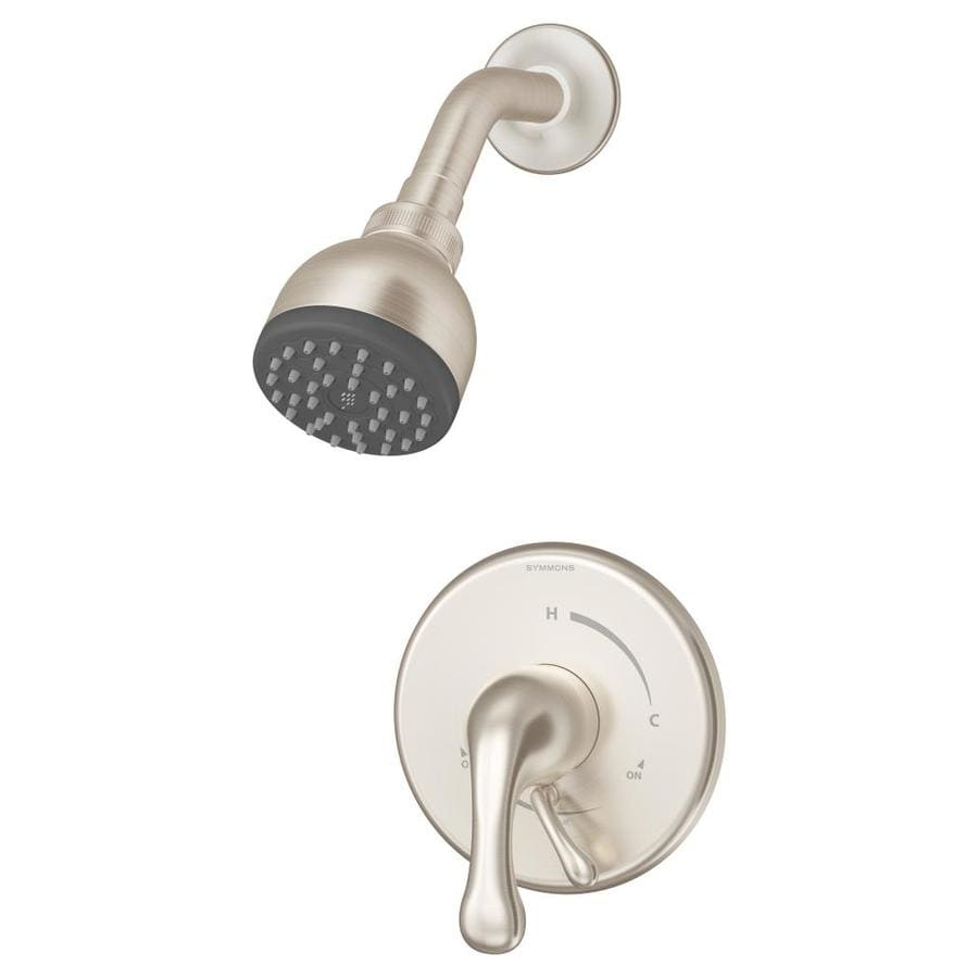 Symmons Unity Satin Nickel 1-handle Commercial Shower Faucet with Valve