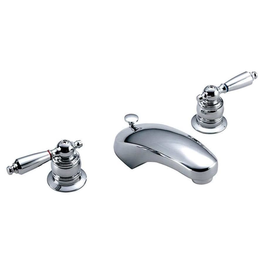 Symmons Origins Chrome 2-Handle Widespread WaterSense Bathroom Faucet (Drain Included)