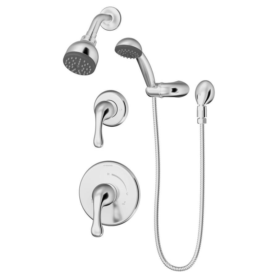 Symmons Unity Satin Nickel 2-Handle 4-in Centerset Bathroom Faucet (Drain Included)