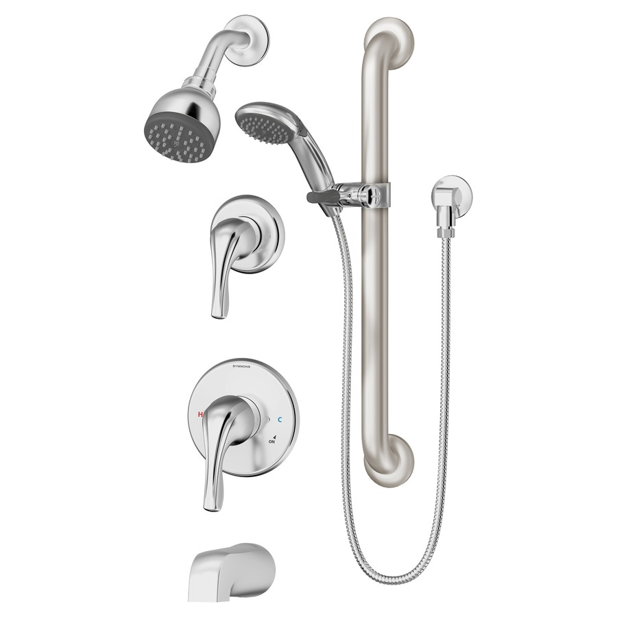 Symmons Unity Satin Nickel 2-handle Widespread Commercial Bathroom Faucet
