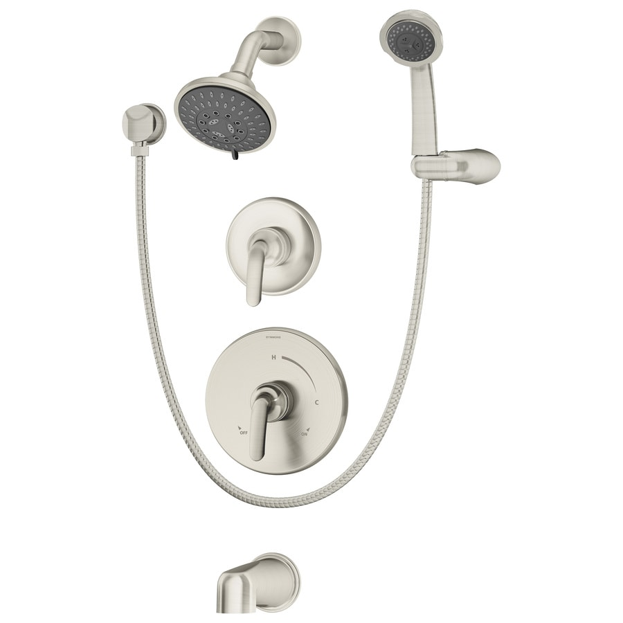 Symmons Elm Satin Nickel 2-Handle Commercial Bathtub and Shower Faucet