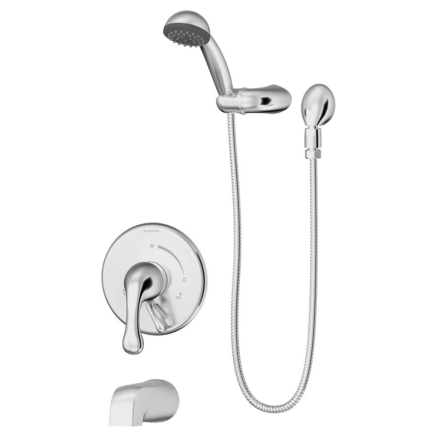 Symmons Unity Chrome 1-Handle Bathtub and Shower Faucet Trim Kit with Single Function Showerhead
