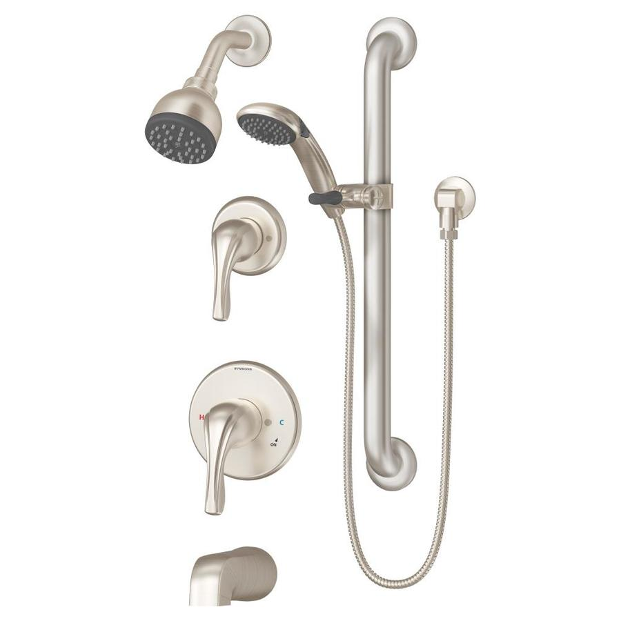 Symmons Origins Satin Nickel 1-Handle Bathtub and Shower Faucet with Single Function Showerhead