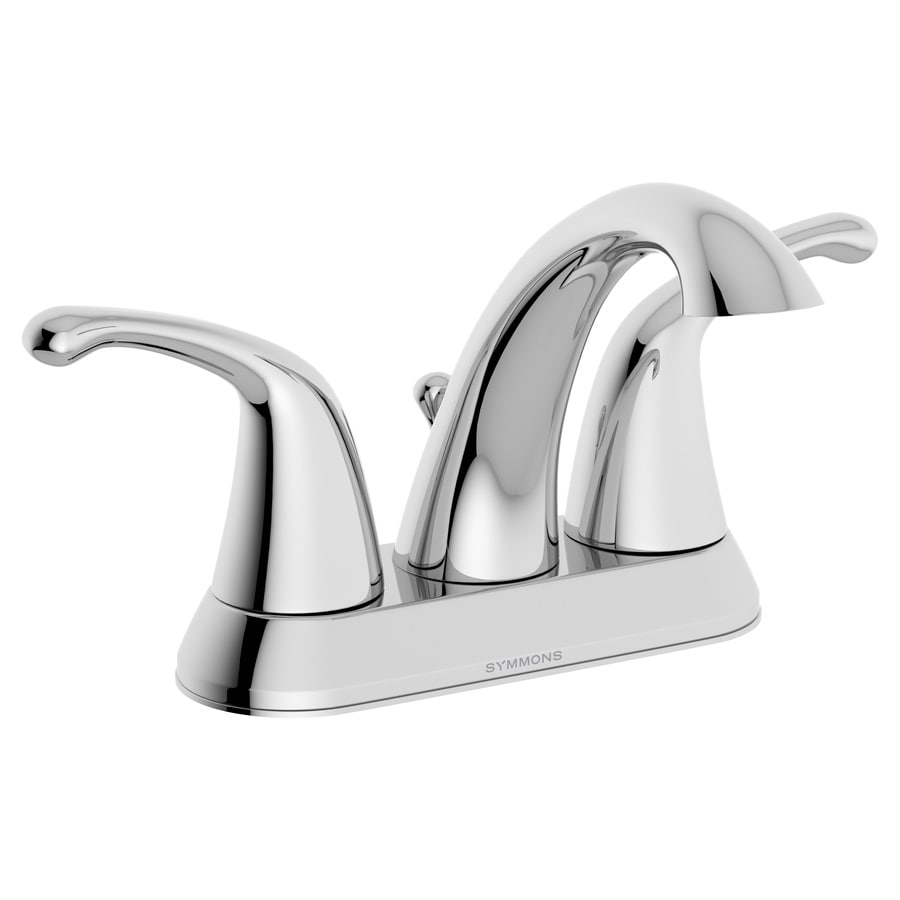 Symmons Unity Chrome 2-Handle 4-in Centerset WaterSense Bathroom Faucet (Drain Included)
