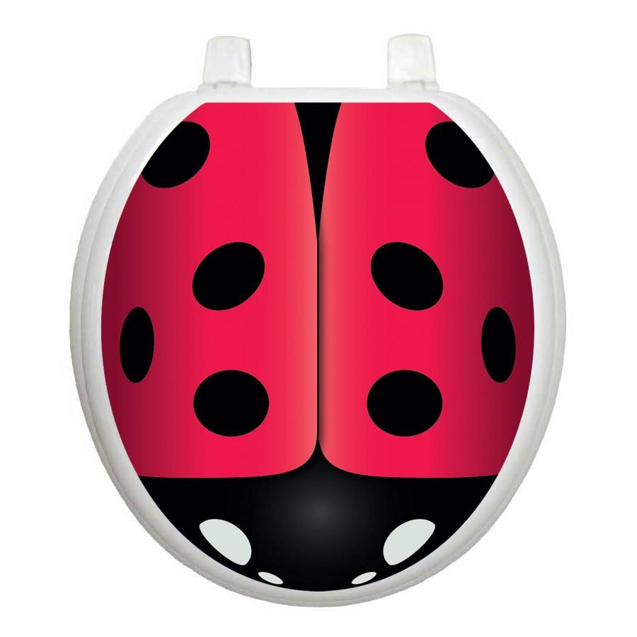 Toilet Tattoos Ladybug Round Toilet Lid Decal