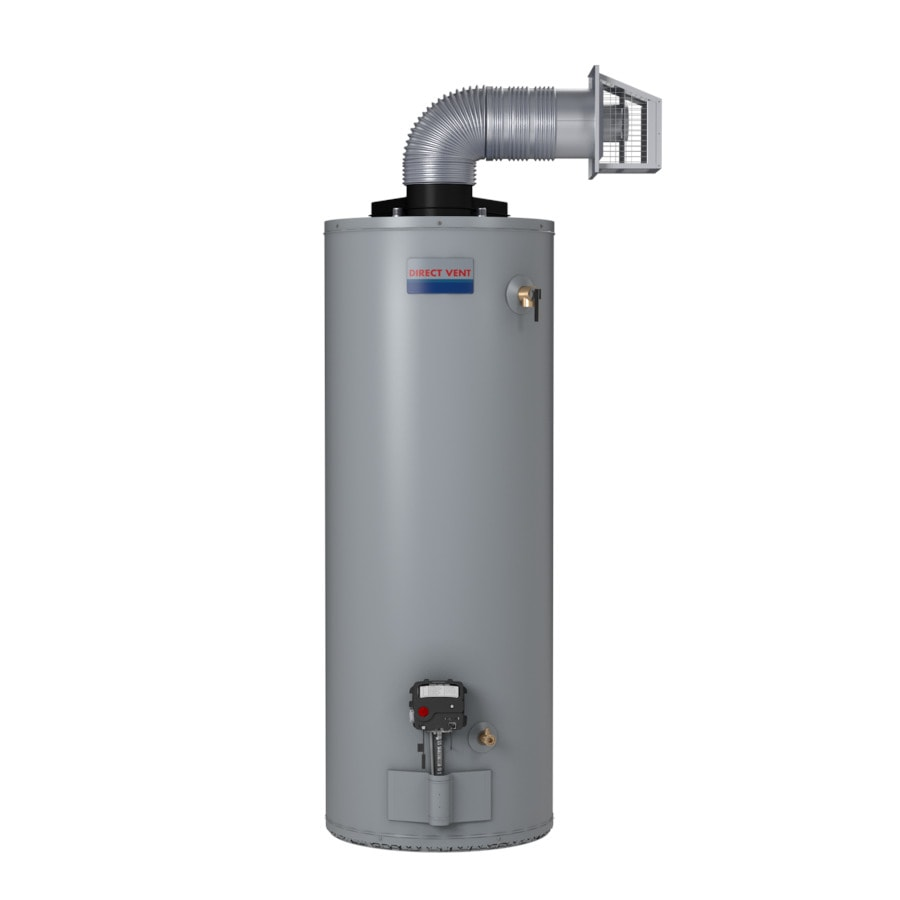 vent 40 gallon 6 year short liquid propane water heater at