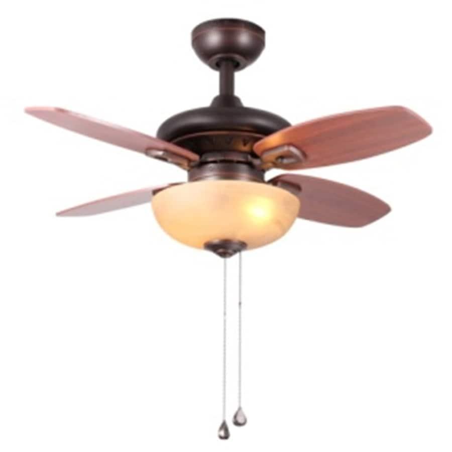 allen + roth 32-in Bronze Ceiling Fan with Light Kit