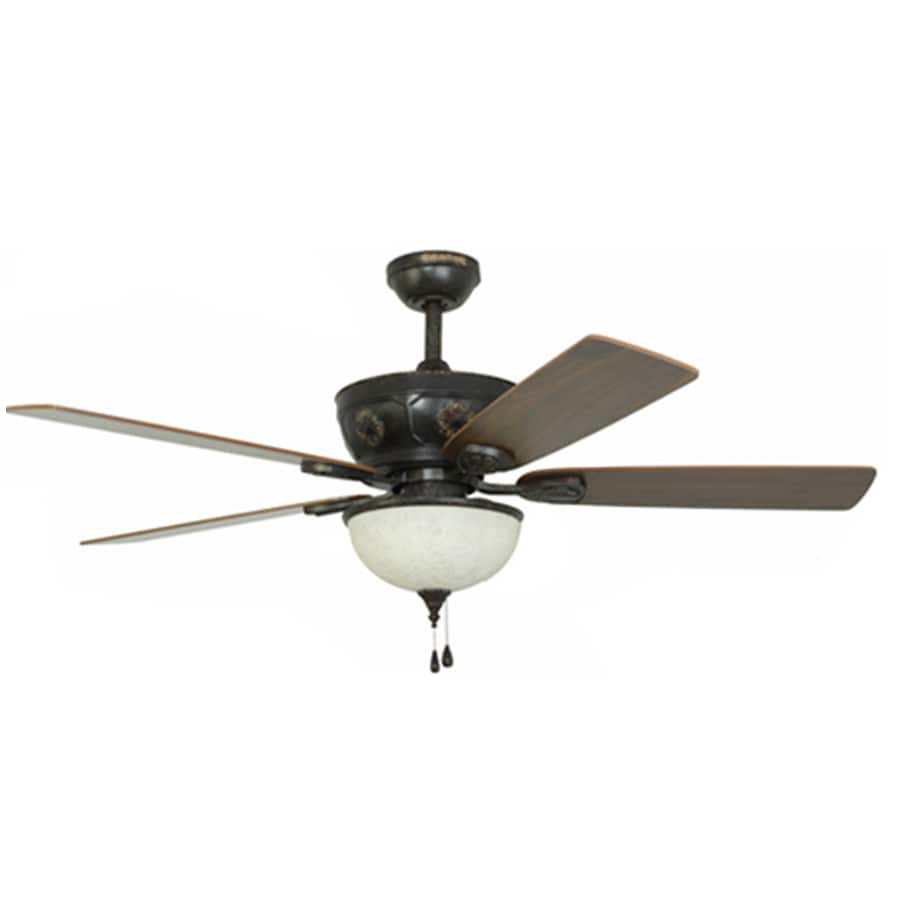 Harbor Breeze Herndon 52-in Aged Bronze Ceiling Fan with Light Kit