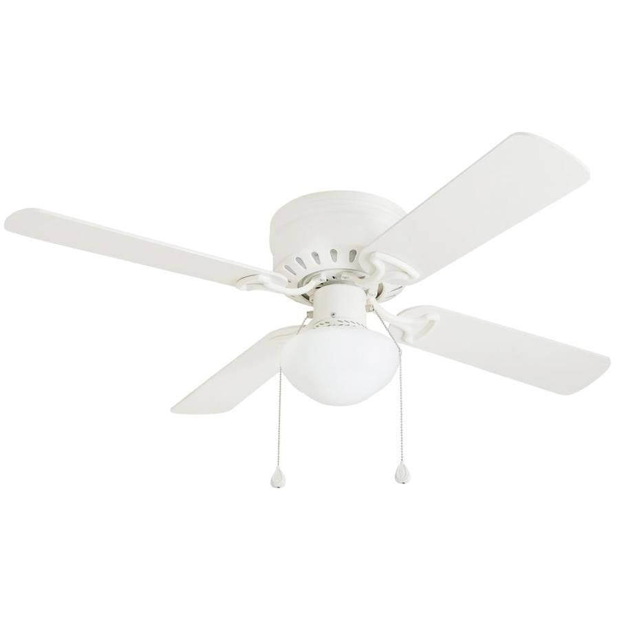 Shop harbor breeze armitage 42 in white indoor flush mount ceiling harbor breeze armitage 42 in white indoor flush mount ceiling fan with light kit mozeypictures Gallery