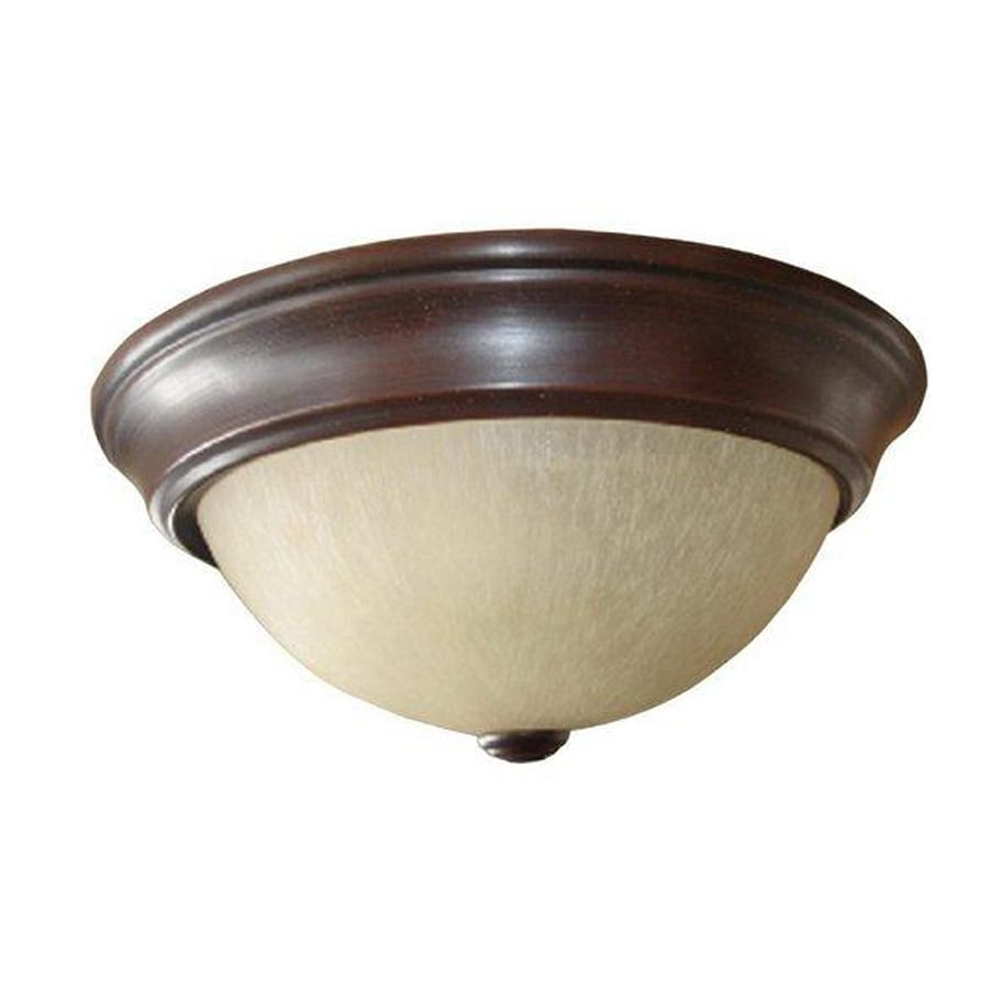 Project Source 2-Pack 13-in W Bronze Ceiling Flush Mount Light