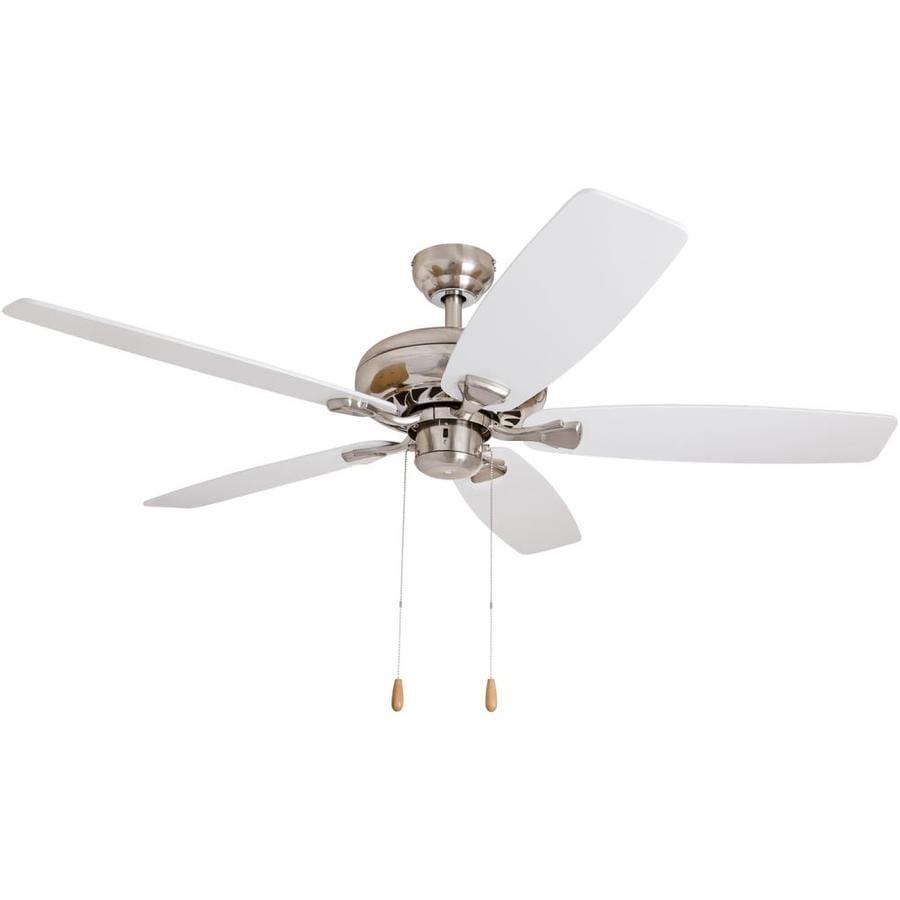 Harbor Breeze Houghton 52-in Brushed Nickel Indoor Downrod Mount Ceiling Fan