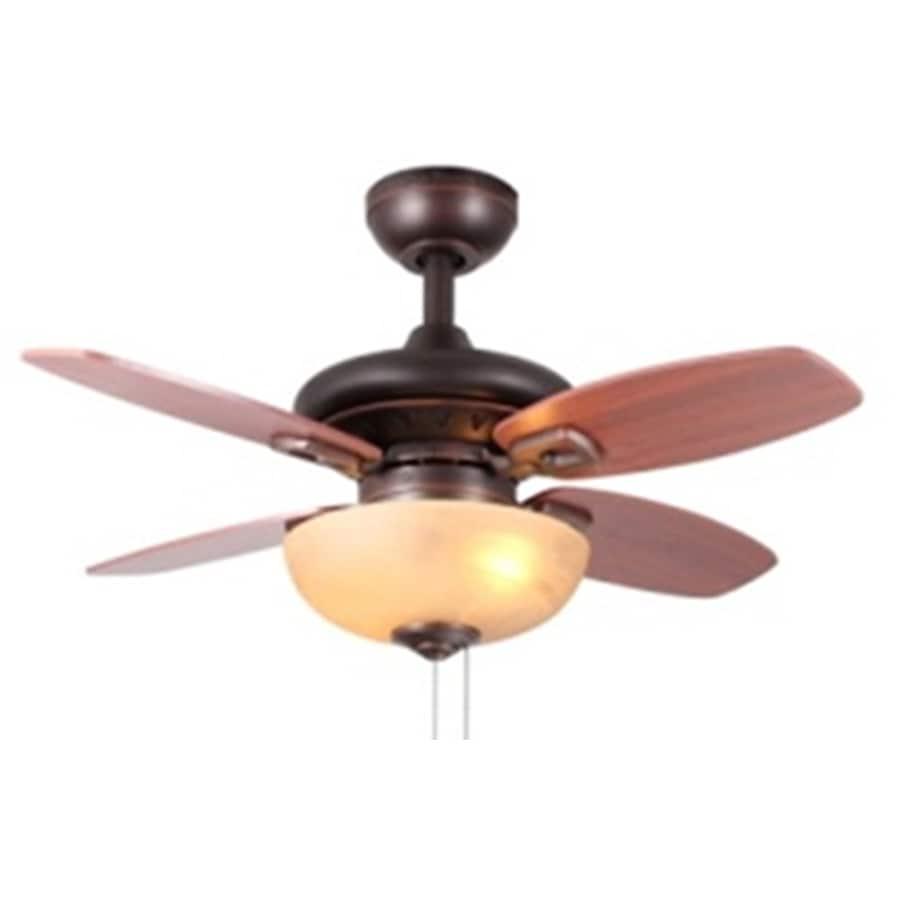 Shop allen roth laralyn 32 in bronze indoor downrod or flush mount allen roth laralyn 32 in bronze indoor downrod or flush mount ceiling fan with aloadofball