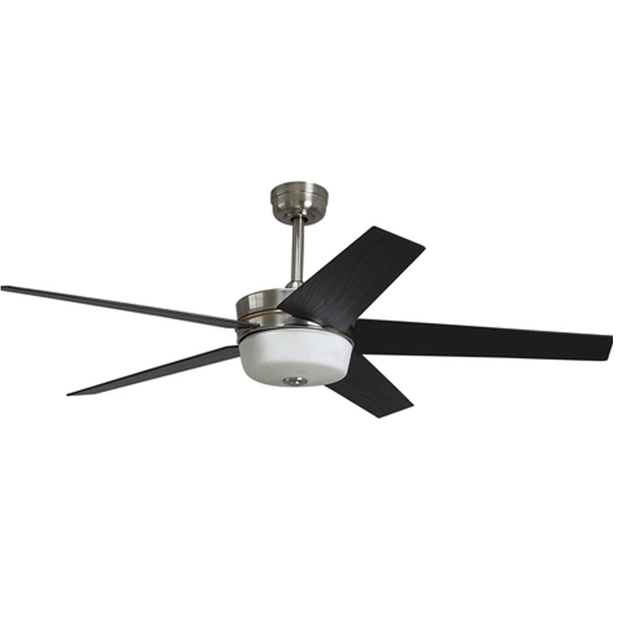 Harbor Breeze 54-in Urbania Brushed Nickel Ceiling Fan with Light Kit