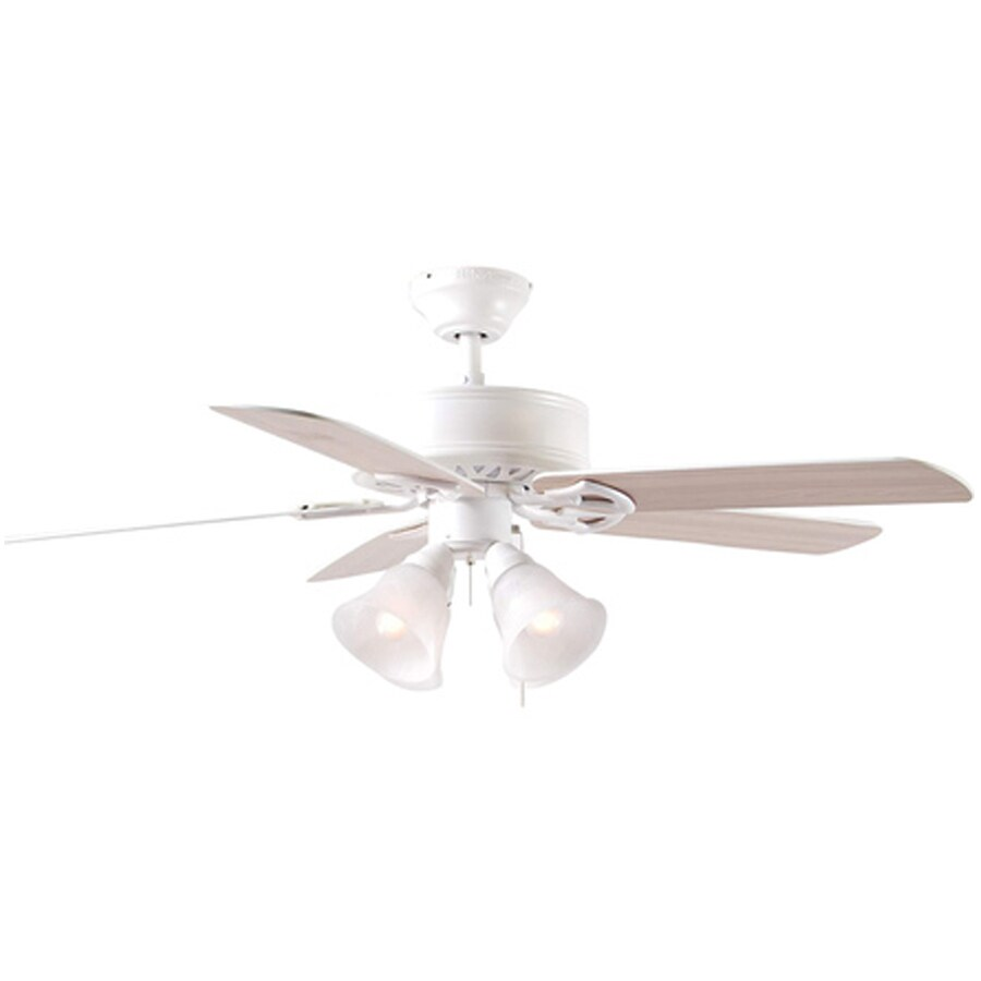 Harbor Breeze Springfield 52-in White Multi-Position Indoor Ceiling Fan with Light Kit