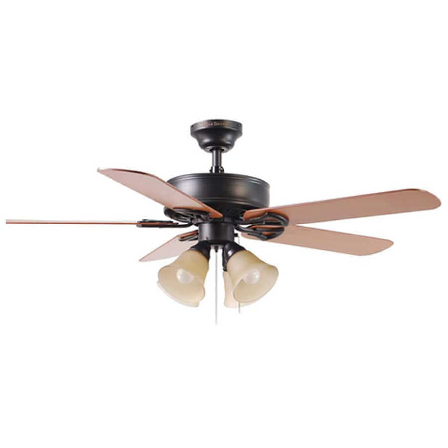 Harbor Breeze 52-in Springfield Antique Bronze Ceiling Fan with Light Kit