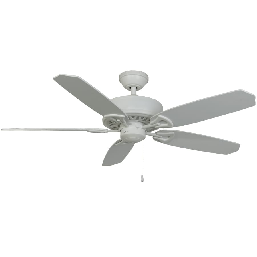 Harbor Breeze Armory 52-in White Downrod or Flush Mount Indoor Ceiling Fan ENERGY STAR