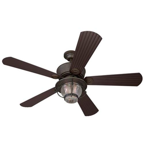 Harbor Breeze Merrimack 52 In Antique Bronze Indoor Outdoor Ceiling Fan With Light Kit And
