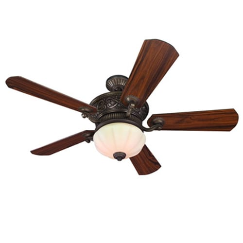 Harbor Breeze Platinum Wakefield 52 In Oil Rubbed Bronze Indoor Ceiling Fan With Light Kit And