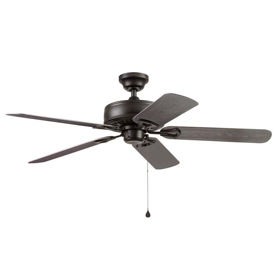 Harbor Breeze Calera 52-in Aged Bronze Indoor/Outdoor Downrod Mount Ceiling Fan
